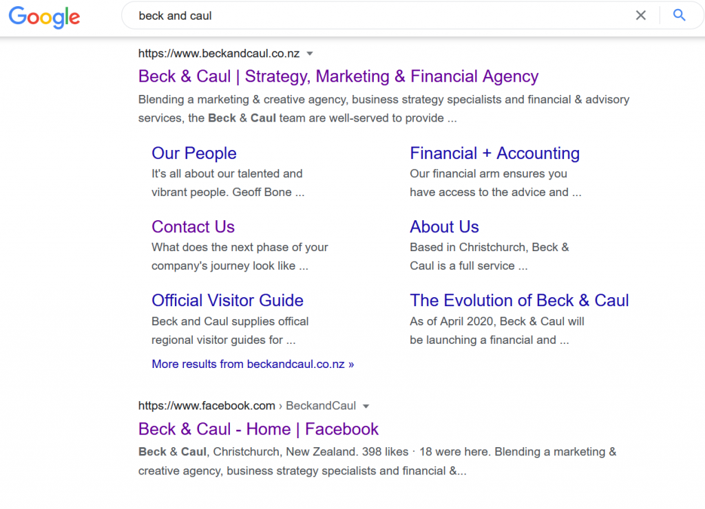 beck and caul search seo